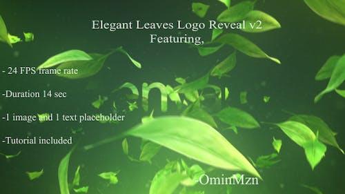 Elegant Leaves Logo Reveal V2