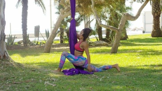 Thumbnail for Young Gymnast Working Out With Ribbons