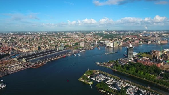 Thumbnail for City Aerial View Over Amsterdam