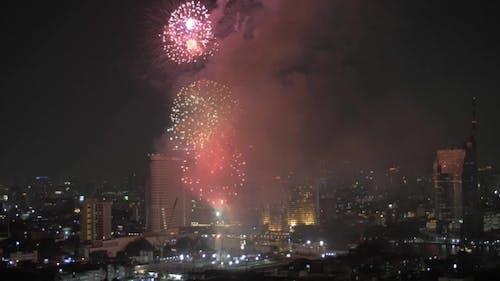 Fireworks In Bangkok, Thailand