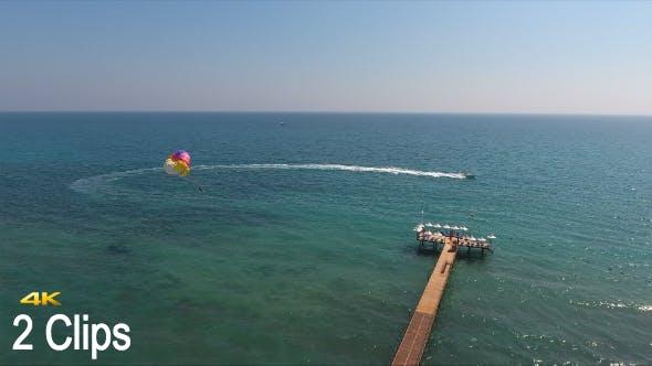 Thumbnail for Aerial Parasailing (2 Clips)