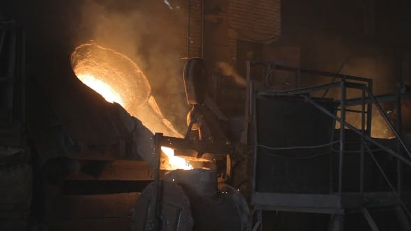 Thumbnail for Transfusion Of Red-hot Steel In a Steel Mill