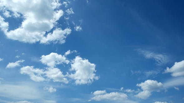 Thumbnail for White Fluffy Clouds Over Blue Sky. Beautiful Cloudscape.