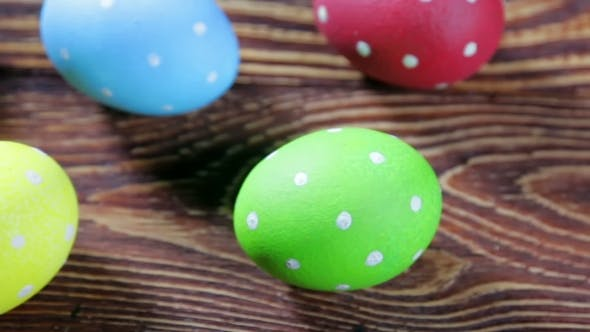 Thumbnail for Easter Eggs On Wooden Background