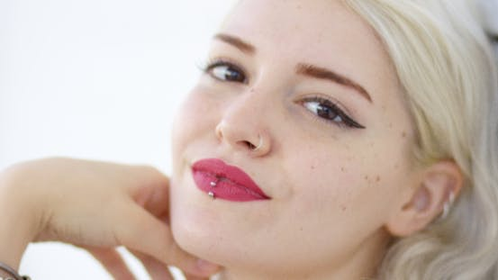 Thumbnail for Beautiful Young Woman With a Pierced Lip