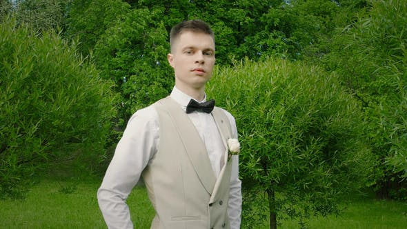 Thumbnail for Young Stylish Man In Wedding Suit