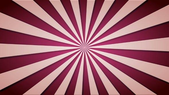 Thumbnail for Footage Animierter Hintergrund von lila rotierenden Strahlen