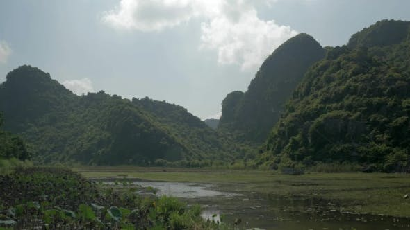 Thumbnail for Green Islets And Cemetery In Water, Vietnam