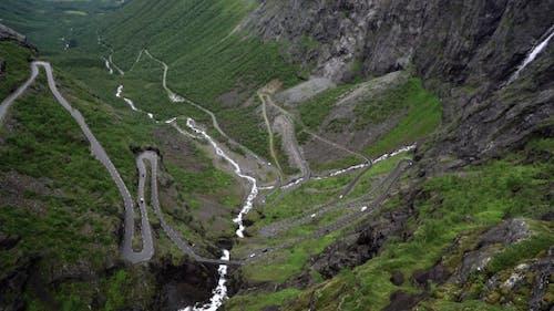 Trollstigveien Winding Mountain Road.