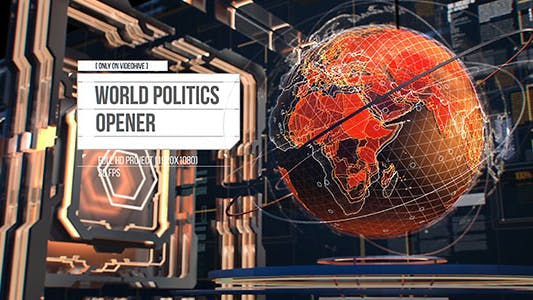 Thumbnail for World Politics News Openers/ Business and Technology Intro/ Political and Digital World Ears Openers