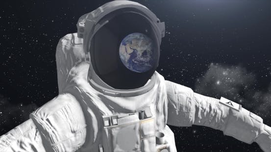 Thumbnail for Astronaut In Space Looking At The Ground
