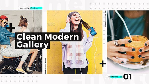 Clean Modern Gallery / Fashion Opener / Event Promo / Clothes Collection / Stylish Urban Slideshow