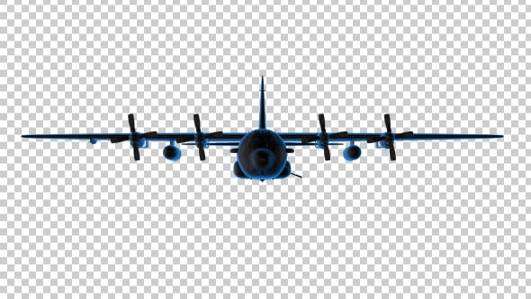 Thumbnail for 3D Military Airplane Outline