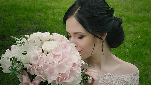 Young Woman In Wedding Day