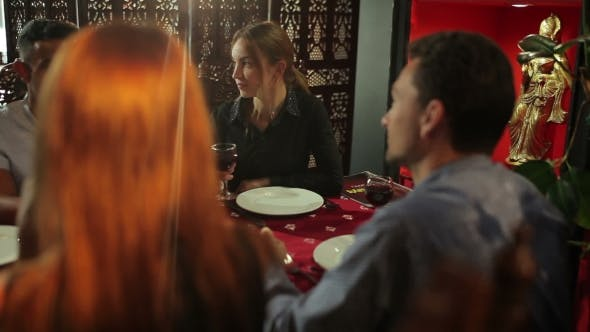 Thumbnail for The Woman Listen The Friend In The Restaurant
