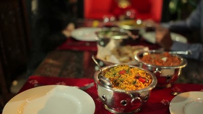 Delicious Food In The Indian Restaurant