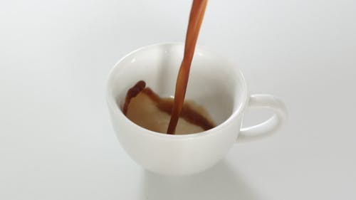 White Cup Of Black Coffee