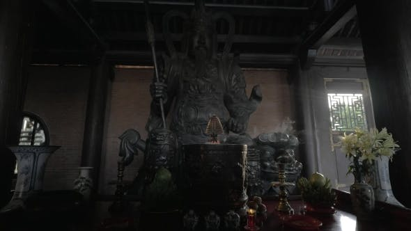 Thumbnail for Altar With Statue Of Warrior In Bai Dinh Temple, Vietnam