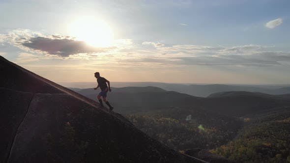 Scarring on the Ridge at Sunset