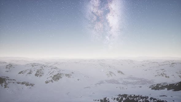 Thumbnail for Milky Way Above Snow Covered Terrain