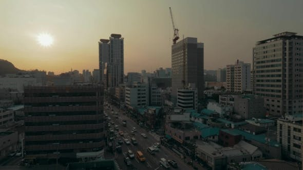 Thumbnail for City Panorama Of Seoul In South Korea In The Evening