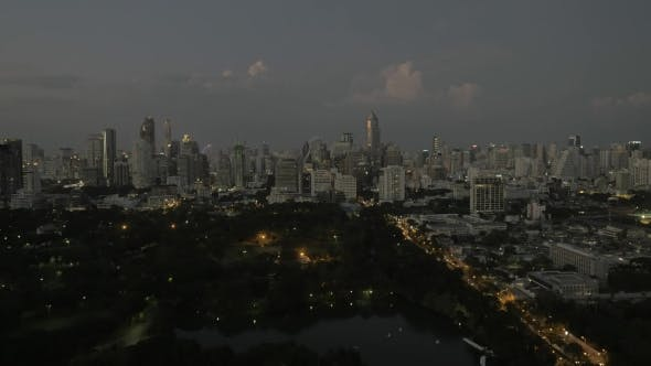 Thumbnail for Bangkok Cityscape In Late Evening, Thailand