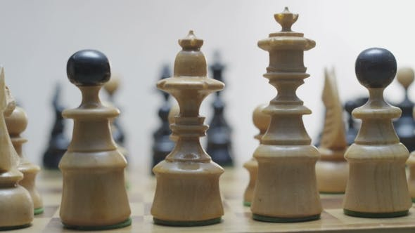 Thumbnail for Chess Board With Classic Wood Pieces 010