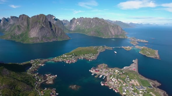 Cover Image for Lofoten Archipelago Islands Aerial Footage