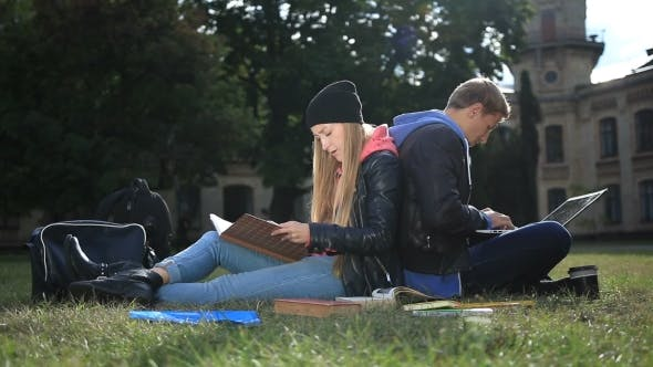 Thumbnail for College Students Studying Near Campus
