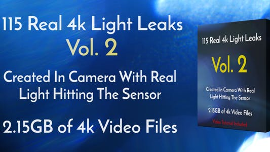 Thumbnail for 115 Real 4k Light Leaks Overlay Pack Vol2