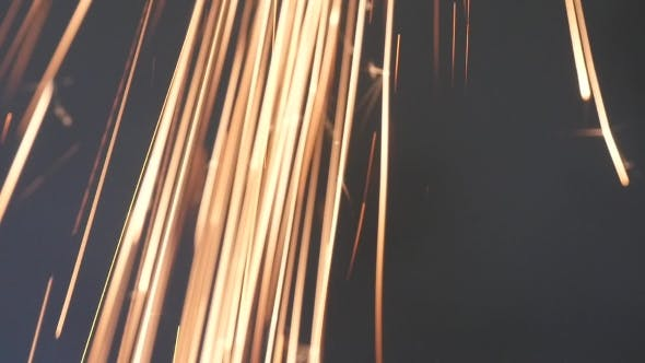 Thumbnail for Sparks Frying During Metal Grinding