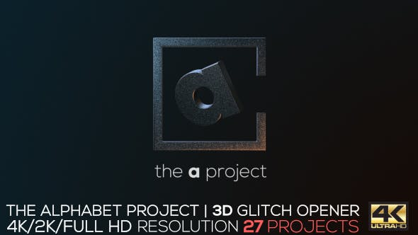 Thumbnail for The Alphabet Project | 3D Glitch Opener