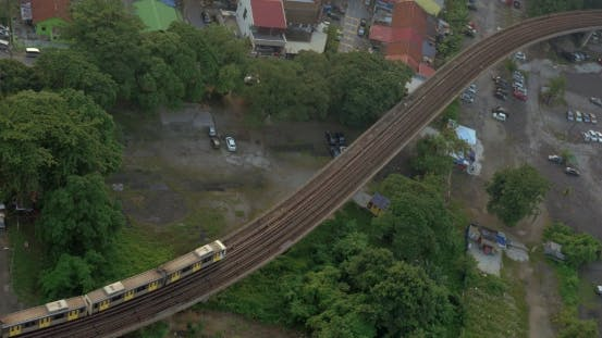 Thumbnail for Railway With a Passing Train In City Of Kuala Lumpur, Malaysia