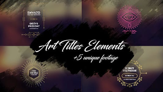 Thumbnail for 5 Brush Art Titles and Shape Text Backgrounds/ Cartoon/ Grunge Texture Footage/ Wedding/ Love Travel