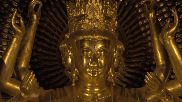 Thumbnail for Shining Bronze Buddhist Statue In Bai Dinh Temple, Vietnam