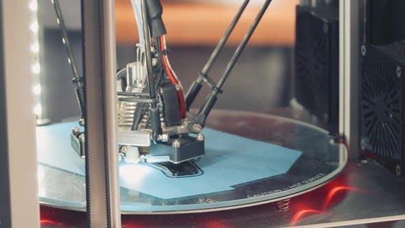 Thumbnail for Work 3D Printer. New Technologies.