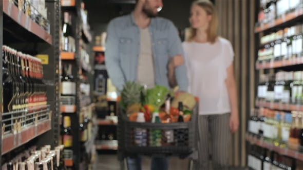 Thumbnail for Couple Shopping At The Supermarket