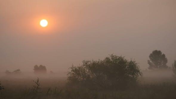 Thumbnail for The Morning Smoke At Beautiful Sunrise