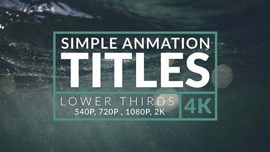 40 Animationstitel & Unterer Drittel - 4k