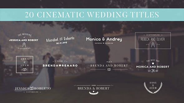 Thumbnail for Cinematic Wedding Titles