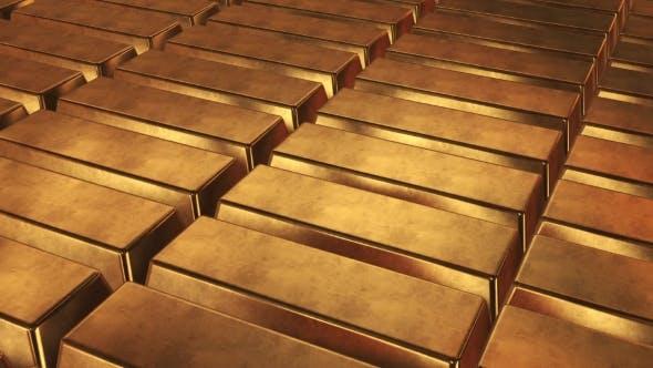 Thumbnail for Stacked Bars Of Gold Bullion