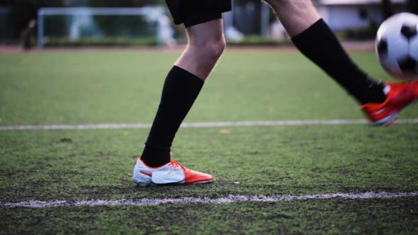 Thumbnail for Football Player Playing And Juggling Ball On Field