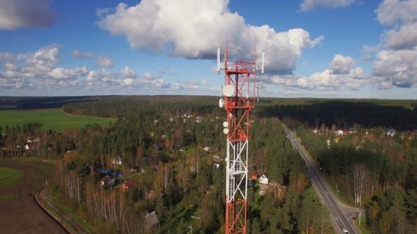 Thumbnail for Aerial View Of Antenna Telecommunication Tower