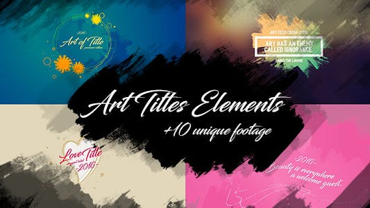 Thumbnail for 10 Brush Art Titles Text Backgrounds/ Oil Paint and Grunge Texture Footage/ Wedding/ Love/ Travel