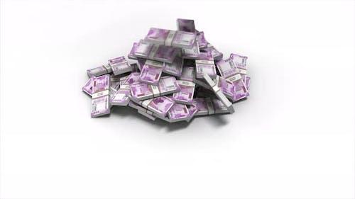 Money Bills Indian Rupee Falling