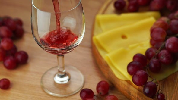Thumbnail for Pouring Red Wine Into Glass.