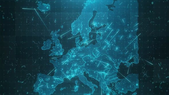 Thumbnail for Europe Map Background Cities Connections 4K