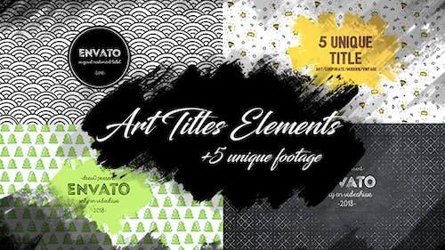 10 Brush Art Titles Text Backgrounds/ Cartoon/ Grunge Texture Footage/ Wedding/ Love/ Travel/ Blog