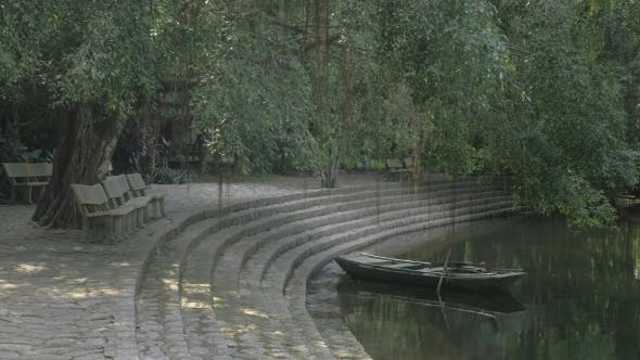 Thumbnail for Park And Boat With Empty Boat, Vietnam