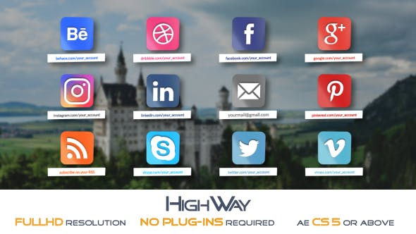 Thumbnail for Glossy Social Icons Pack